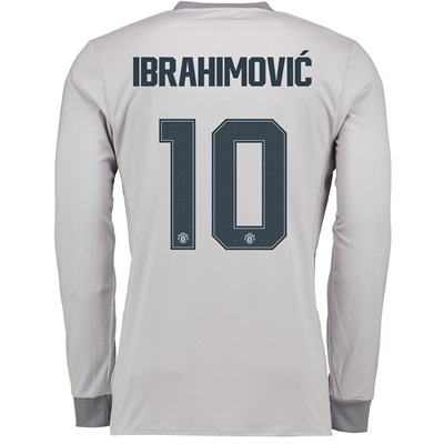 Manchester United Third Cup Shirt 2017-18 – Kids – Long Sleeve with Ib