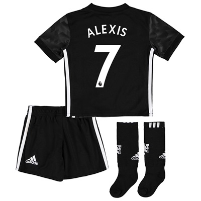 Manchester United Away Mini Kit 2017-18 with Alexis 7 printing