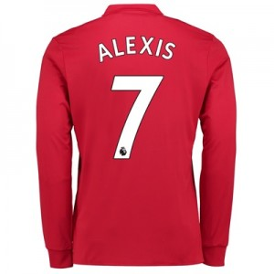 Manchester United Home Shirt 2017-18 – Long Sleeve with Alexis 7 print
