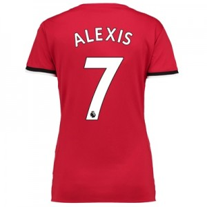 Manchester United Home Shirt 2017-18 – Womens with Alexis 7 printing
