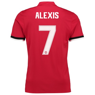 Manchester United Home Cup Shirt 2017-18 with Alexis 7 printing