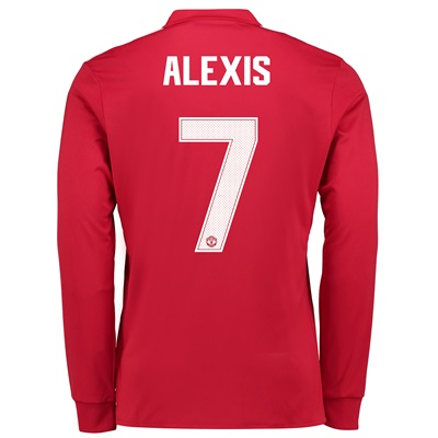 Manchester United Home Cup Shirt 2017-18 – Kids – Long Sleeve with Ale