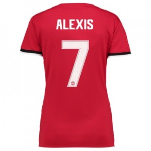Manchester United Home Cup Shirt 2017-18 – Womens with Alexis 7 printi