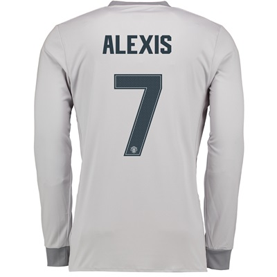Manchester United Third Cup Shirt 2017-18 – Long Sleeve with Alexis 7