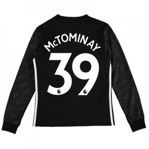 Manchester United Away Shirt 2017-18 – Kids – Long Sleeve with McTomin