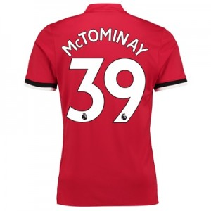 Manchester United Home Shirt 2017-18 – Kids with McTominay 39 printing