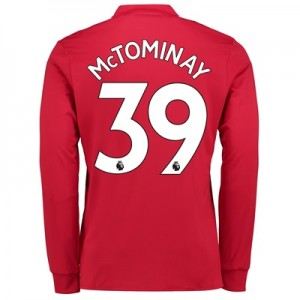 Manchester United Home Shirt 2017-18 – Kids – Long Sleeve with McTomin