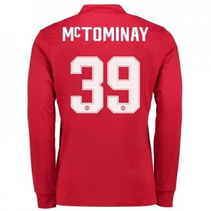 Manchester United Home Cup Shirt 2017-18 – Long Sleeve with McTominay