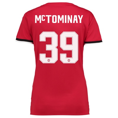 Manchester United Home Cup Shirt 2017-18 – Womens with McTominay 39 pr
