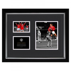 Manchester United Historic Moments – Sheringham 1999 Framed Print – 20