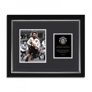 Manchester United Historic Moments – Giggs FA Cup Framed Print – 20 x
