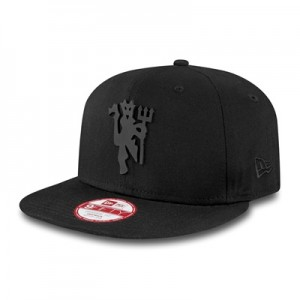 Manchester United New Era Black on Black Devil 9FIFTY Snapback Cap – B