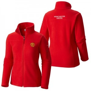Manchester United Columbia Fast Trek II Full Zip Fleece Jacket – Red –
