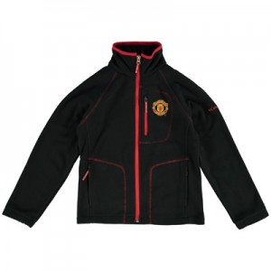 Manchester United Columbia Fast Trek Full Zip Fleece Jacket - Black - Kids