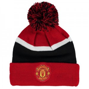 Manchester United New Era Bobble Knit – Scarlet – Kids