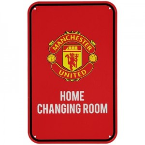 Manchester United Home Team Changing Room Sign