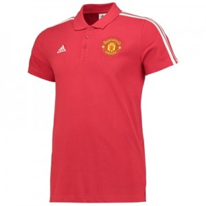 Manchester United 3 Stripe Polo – Red