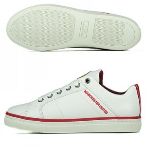 Manchester United Trafford Lifestyle Trainers - White - Kids