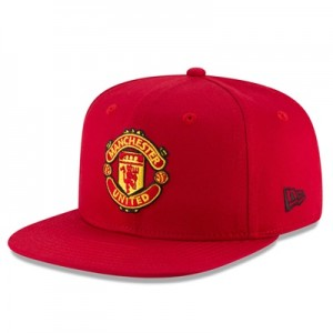 Manchester United New Era Visor Print 9FIFTY Snapback Cap – Red – Adul