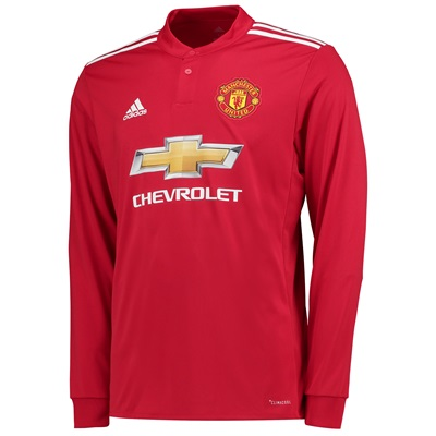 Manchester United Home Shirt 2017-18 – Kids – Long Sleeve