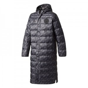 Manchester United Long Down Jacket – Black