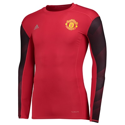 Manchester United Tecfhit Baselayer Top – Red – Long Sleeve