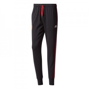 Manchester United 3 Stripe Pant – Black