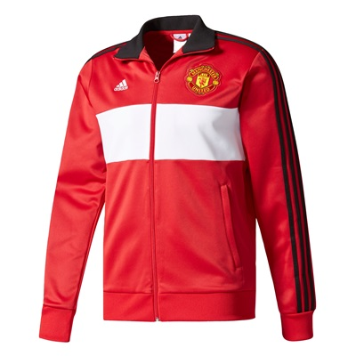 Manchester United 3 Stripe Track Top – Red