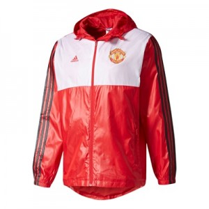 Manchester United 3 Stripe Windbreak – Red