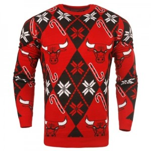 """Chicago Bulls 2017 Candy Cane Ugly Jumper"""