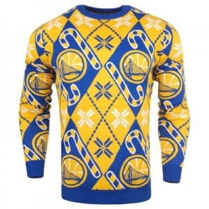 """Golden State Warriors 2017 Candy Cane Ugly Jumper"""