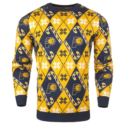 """Indiana Pacers 2017 Candy Cane Ugly Jumper"""