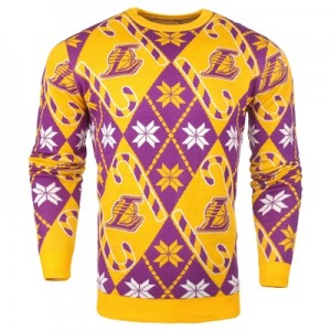 """Los Angeles Lakers 2017 Candy Cane Ugly Jumper"""