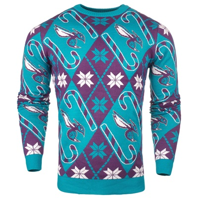 """Charlotte Hornets 2017 Candy Cane Ugly Jumper"""