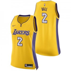 """Los Angeles Lakers Nike Association Swingman Jersey – Lonzo Ball – Wom"""