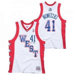 """NBA 2004 Hardwood Classics Dirk Nowitzki All-Star West Swingman Jersey"""