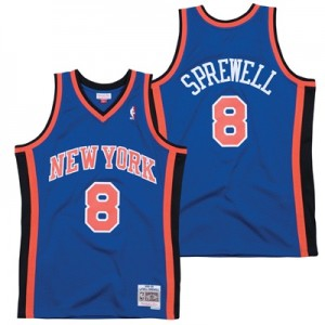 """New York Knicks Latrell Sprewell Hardwood Classics Road Swingman Jerse"""
