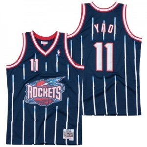 """Houston Rockets Yao Ming Hardwood Classics Road Swingman Jersey – Mens"""