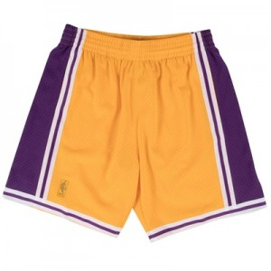 """Los Angeles Lakers Hardwood Classics Home Swingman Short – Mens"""