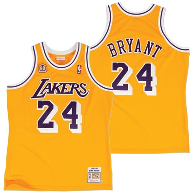 """Los Angeles Lakers Kobe Bryant 2007-08 Home Authentic Jersey By Mitche"""