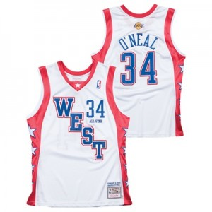 """NBA 2004 West Shaquille ONeal Authentic All-Star Jersey By Mitchell & """