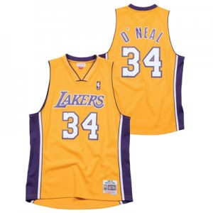 """Los Angeles Lakers Shaquille ONeal Hardwood Classics Home Swingman Jer"""