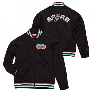 """San Antonio Spurs Hardwood Classics Top Prospect Track Jacket By Mitch"""