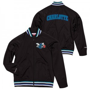 """Charlotte Hornets Hardwood Classics Top Prospect Track Jacket By Mitch"""