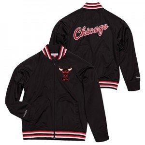"""Chicago Bulls Hardwood Classics Top Prospect Track Jacket By Mitchell """