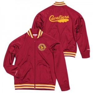 """Cleveland Cavaliers Hardwood Classics Top Prospect Track Jacket By Mit"""