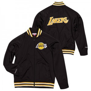 """Los Angeles Lakers Hardwood Classics Top Prospect Track Jacket By Mitc"""