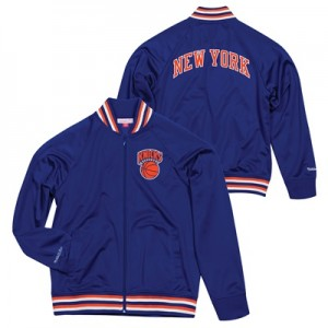 """New York Knicks Hardwood Classics Top Prospect Track Jacket By Mitchel"""