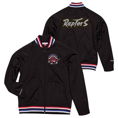 """Toronto Raptors Hardwood Classics Top Prospect Track Jacket By Mitchel"""