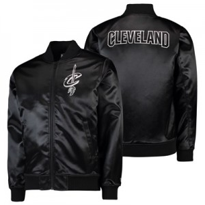"""Cleveland Cavaliers New Era Sateen Bomber Jacket – Mens"""